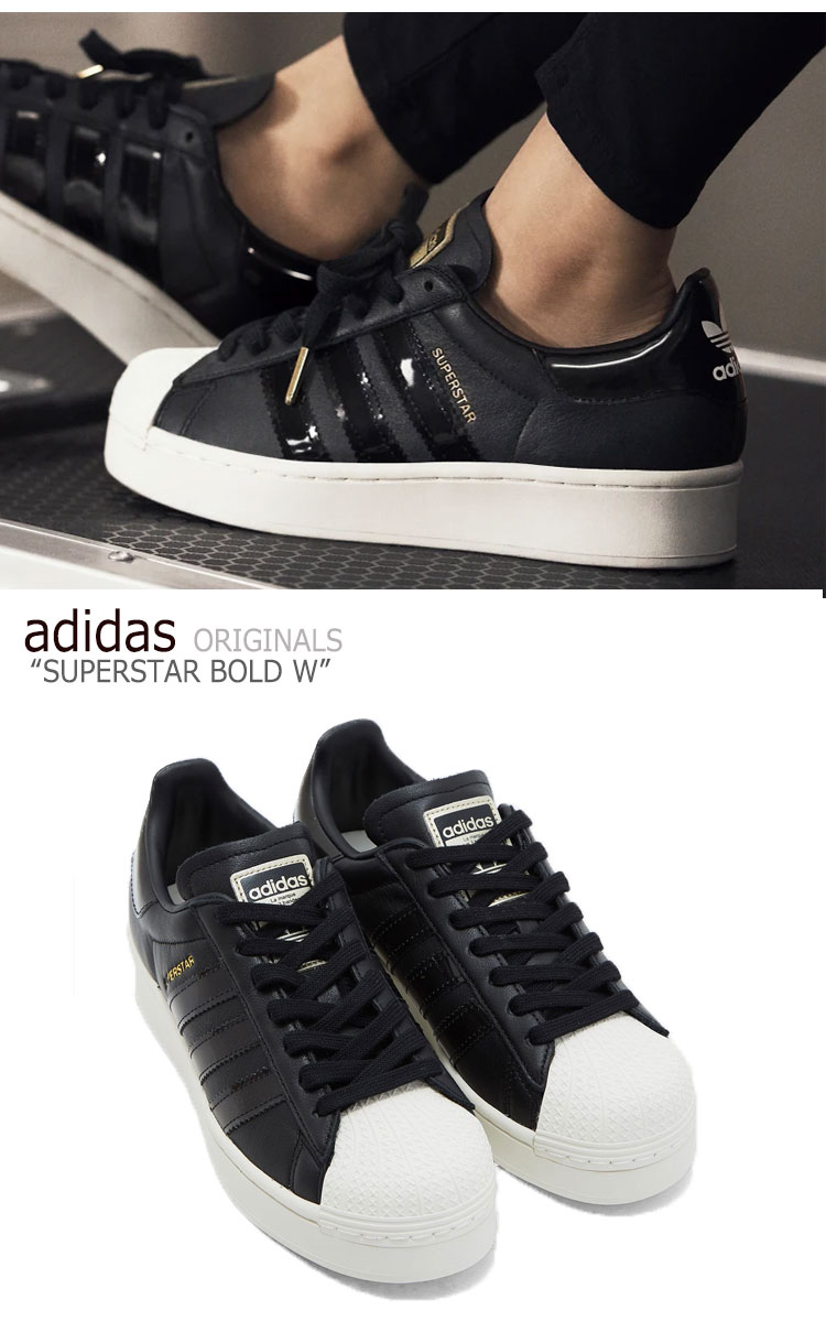 Adidas superstar sneakers adidas Lady's SUPERSTAR BOLD W superstar boldface  BLACK black FV3354 shoes-free article