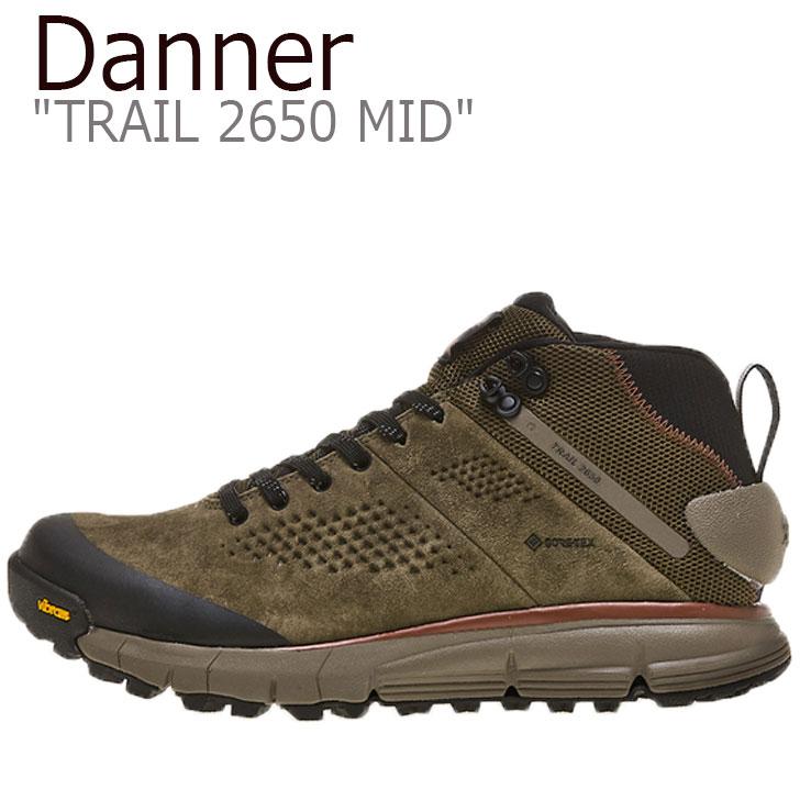 danner DANNERTRAIL2650MID trail trail2650 trailmid ダナースニーカー メンズスニーカー ダナートレイル オリーブスニーカー ダナーメンズ ダナーメンズスニーカー ダナー スニーカー ミッド オリーブ DANNER メンズ トレイル2650 61240 シューズ 2650 1年保証 DUSTY OLIVE 付与 ダスティ MID TRAIL