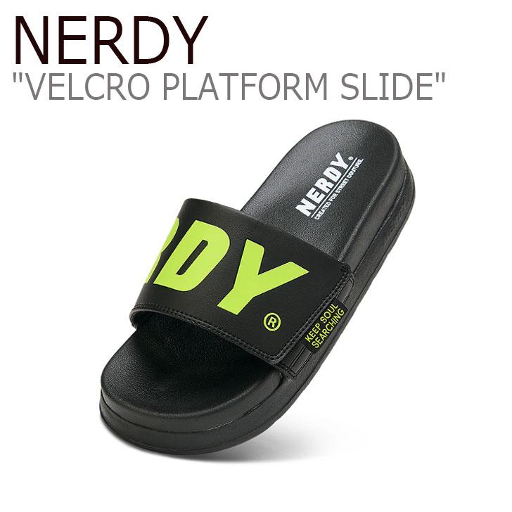 ノルディ ノルディサンダル nerdy 好評 velcro platform slides ノルディスリッパ ノルディ厚底 シャワーサンダル スリッパ 厚底サンダル サンダル NERDY シューズ BLACK プラットフォーム レディース PLATFORM VELCRO 保証 ノルディー メンズ PNEU20AE0501 ブラック ベルクロ スライド SLIDE