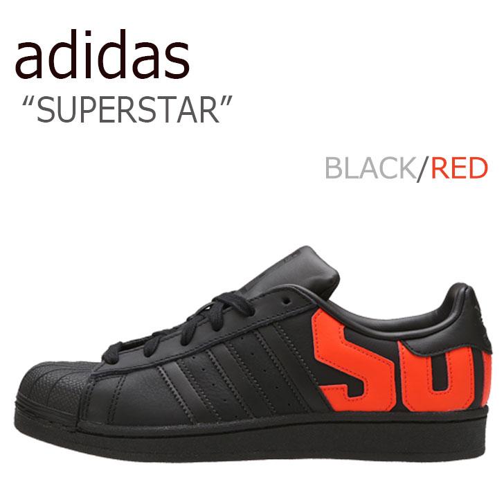 ADIDAS スーパー スター super star ロゴ black ブラック 黒 新作販売 ビッグロゴ 海外直輸入USED品 アディダス スーパースター RED 《週末限定タイムセール》 シューズ BLACK メンズ 未使用品 LOGO B37981 レッド スニーカー 中古 レディース SUPERSTAR adidas