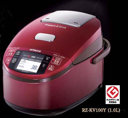 到海外為外國電飯煲日立日立水稻電飯煲香噴噴的米飯 !海外規格電磁爐鑄造鐵釜蒸汽少 IH 電鍋 RZ-KV100Y/220 V 230 V / 1.0 L (5.5 連筆字) 廚師