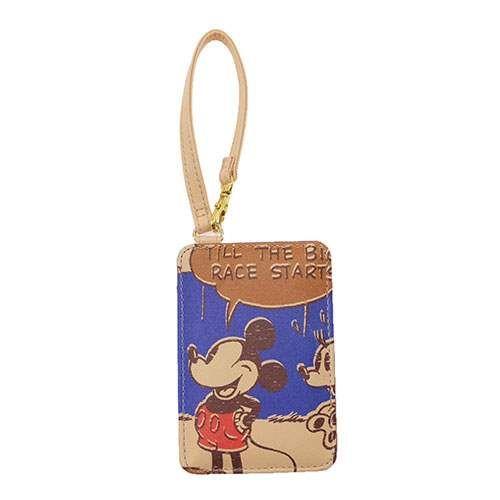 ディズニーキャラの可愛い通勤通学グッズ メール便可 ミッキーマウス 持ち手つき単面パスケース 別倉庫からの配送 おしゃれ 在庫限り