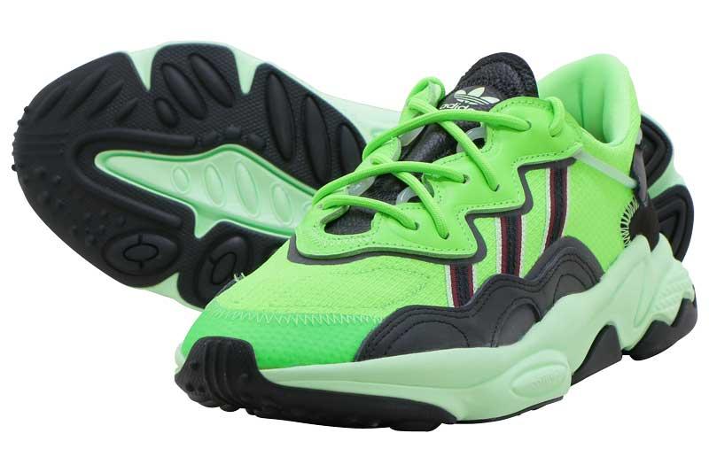 adidas Originals OZWEEGOアディダス オズウィーゴSOLOR GREEN/CORE BLACK/GLOW GREEN