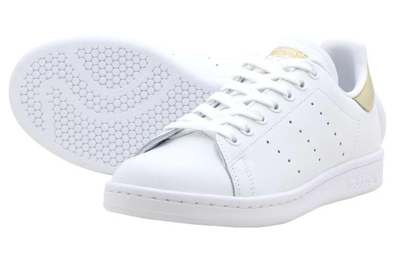 adidas STAN SMITH Wアディダス スタンスミス WFTW WHITE/FTW WHITE/GOLD METALIC