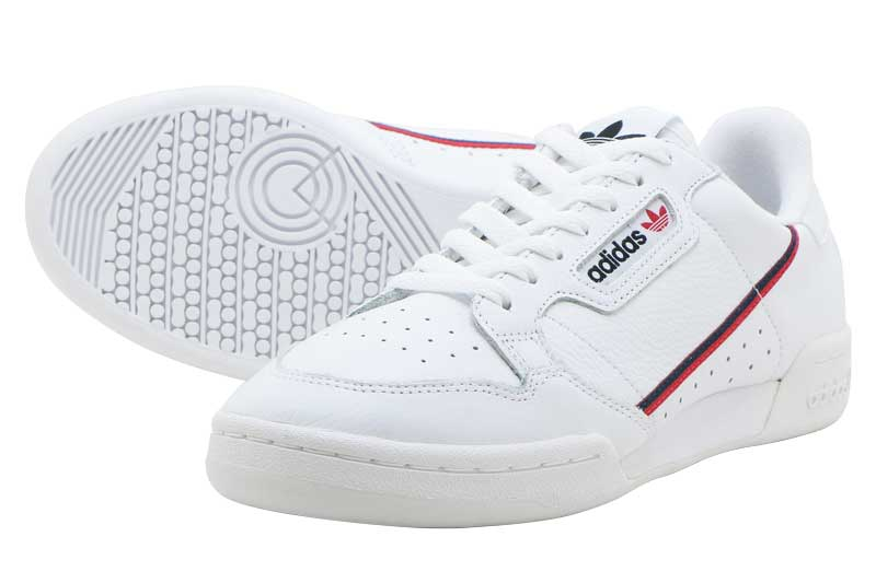 adidas Originals CONTINENTAL 80アディダス オリジナルス コンチネンタル 80RUNNING WHITE/SCARLET/COLLEGE NAVY