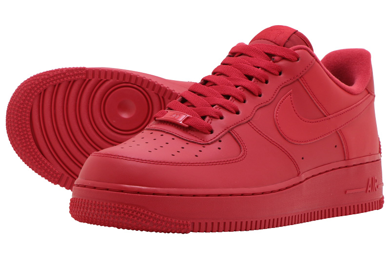 NIKE-21SP 2021-0123 FINAL SALE ストア ファイナル プレゼント セール NIKE AIR FORCE 1 1ナイキ フォース LV8 RED-BLACK 1UNIVERSITY UNIVERSITY エア RED '07