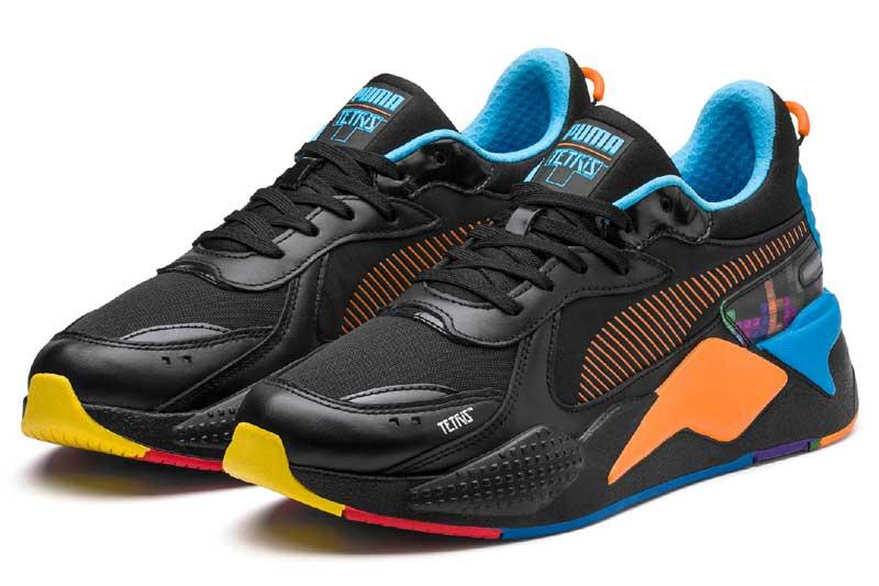 【FINAL SALE】【ファイナルセール】PUMA RS-X TETRISプーマ RS-X テトリスPUMA BLACK/LUMINOUS BLUE【メンズ レディース スニーカー】