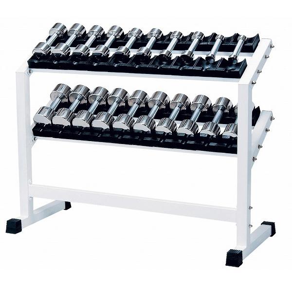 ステンレスダンベル ラック付 1~10kgセット(6~10kg回転式)RSS-5500 【中旺ヘルス】【送料無料】【ダンベル】【ダンベル セット】