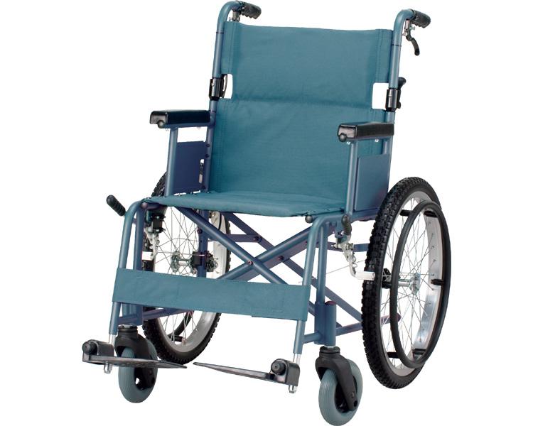 アルミ軽量コンパクト自走用車椅子 災害用/FX20EM 【イーストアイ】【車椅子】