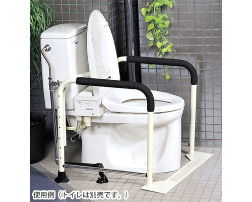 トイレの手すり ワイド&菱形タイプ MW30 (洋式トイレ用) 【イーストアイ】【トイレ用手すり】【手すり】【トイレ】