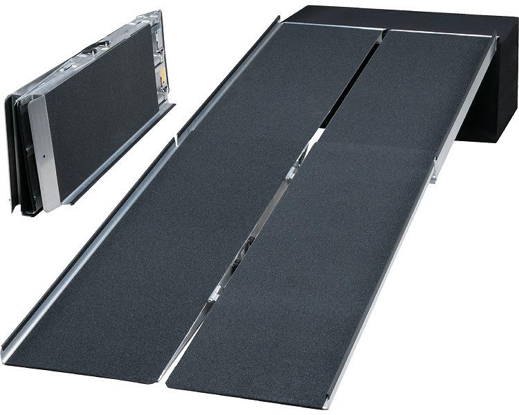 ポータブルスロープ アルミ4折式タイプ(PVWシリーズ) 長さ305cm/PVW300 【イーストアイ】