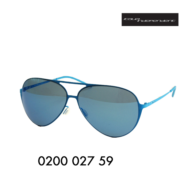 f04aa1f6458 Italian independent sunglasses 0200A 027   000 59I-THIN Aisin Asian fit  model frame color  Sky lens color  Blue mirror