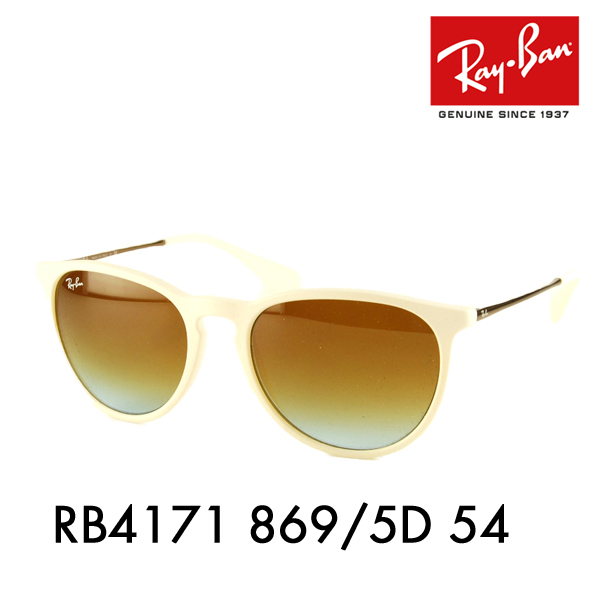 1a823aa31e Ray-Ban ( Ray Ban ) sunglasses RB 4171 869   5 D 54 ITA glasses glasses ERIKA  Erika Womens □ frame color  white □ lens color  Brown gradation
