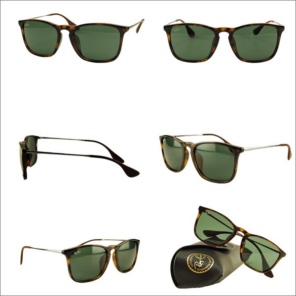 射線禁止克裡斯太陽鏡 RB4187F710/71 54 雷朋 ITA 眼鏡眼鏡克裡斯完全擬合的模型