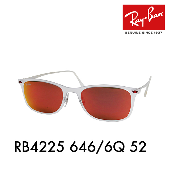 【店内最大pt20倍 ~5/8 9:59】レイバン サングラス RB4225 646/6Q 52 Ray-Ban 伊達メガネ 眼鏡 ニューウェイファーラー