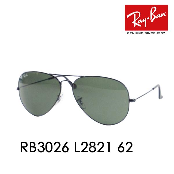 b361fd7d66 Ray-Ban ( Ray Ban ) sunglasses TM AVIATOR LARGE METAL II Aviator large  metal L2821 RB3026 62 Teardrop □ frame color  black □ lens color  dark green