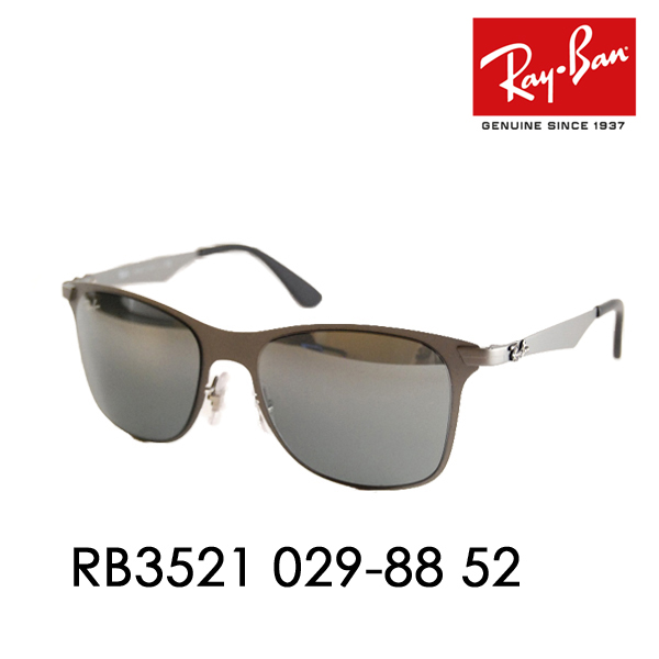 3cdef440c8 Ray-Ban ( Ray Ban ) sunglasses RB3521 029   88 52 ITA glasses glasses  WayFarer Flat Metal □ frame color  Matt gunmetal □ lens color  ...