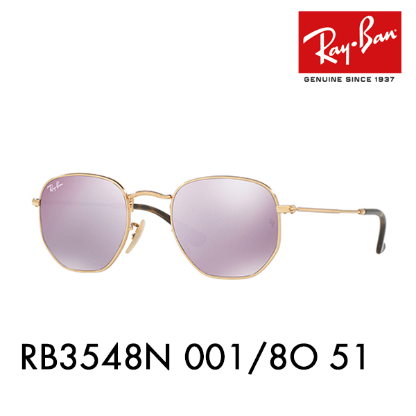 Ray-Ban sunglasses RB3548N 001 8O 51 Ray-Ban HEXAGONAL ヘキサゴナル FLATLENS flat  lens round 82d59d8681