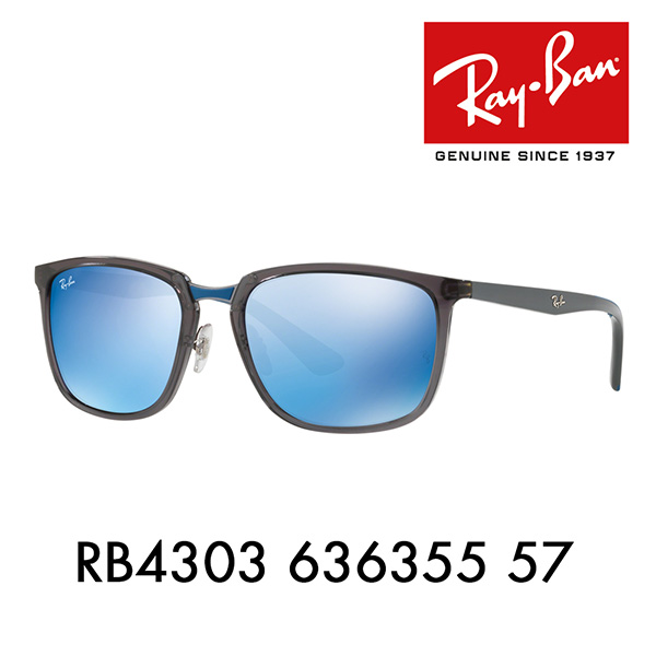 f644548e70 Ray-Ban sunglasses RB4303 636355 57 Ray-Ban square active lifestyle mirror  ACTIVE LIFESTYLE