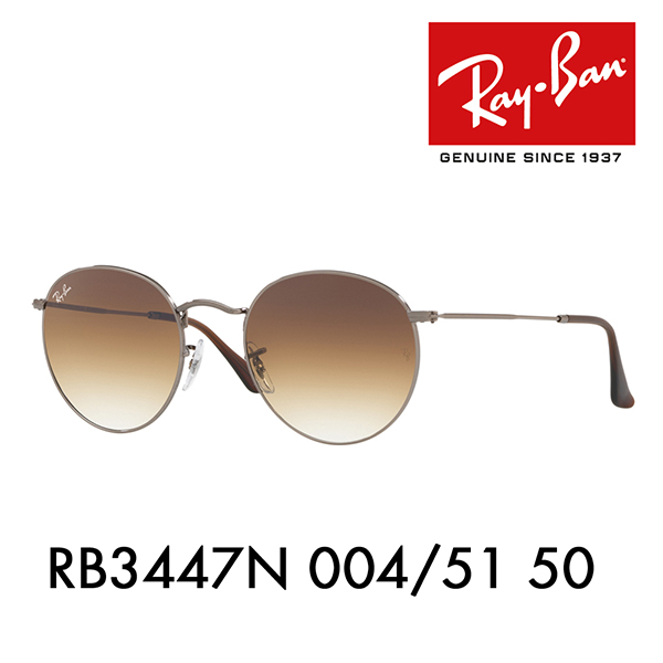 5ecb736319a Ray-Ban round metal sunglasses RB3447N 004 51 50 Ray-Ban flat lens icon  ROUND FLAT METAL ICONS Date glasses glasses