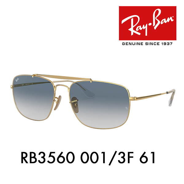 c2ad6f9563 Ray-Ban sunglasses RB3560 001 3F 61 Ray-Ban kolo flannel two bridge colonel  icon COLONEL ICONS Date glasses glasses