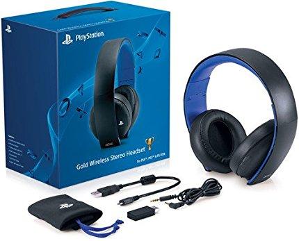 PlayStation Gold Wireless Stereo Headset-Jet Black(プレイステーションゴールドワイヤレスステレオヘッドセット ジェットブラック 北米版)〈Sony〉[新品]