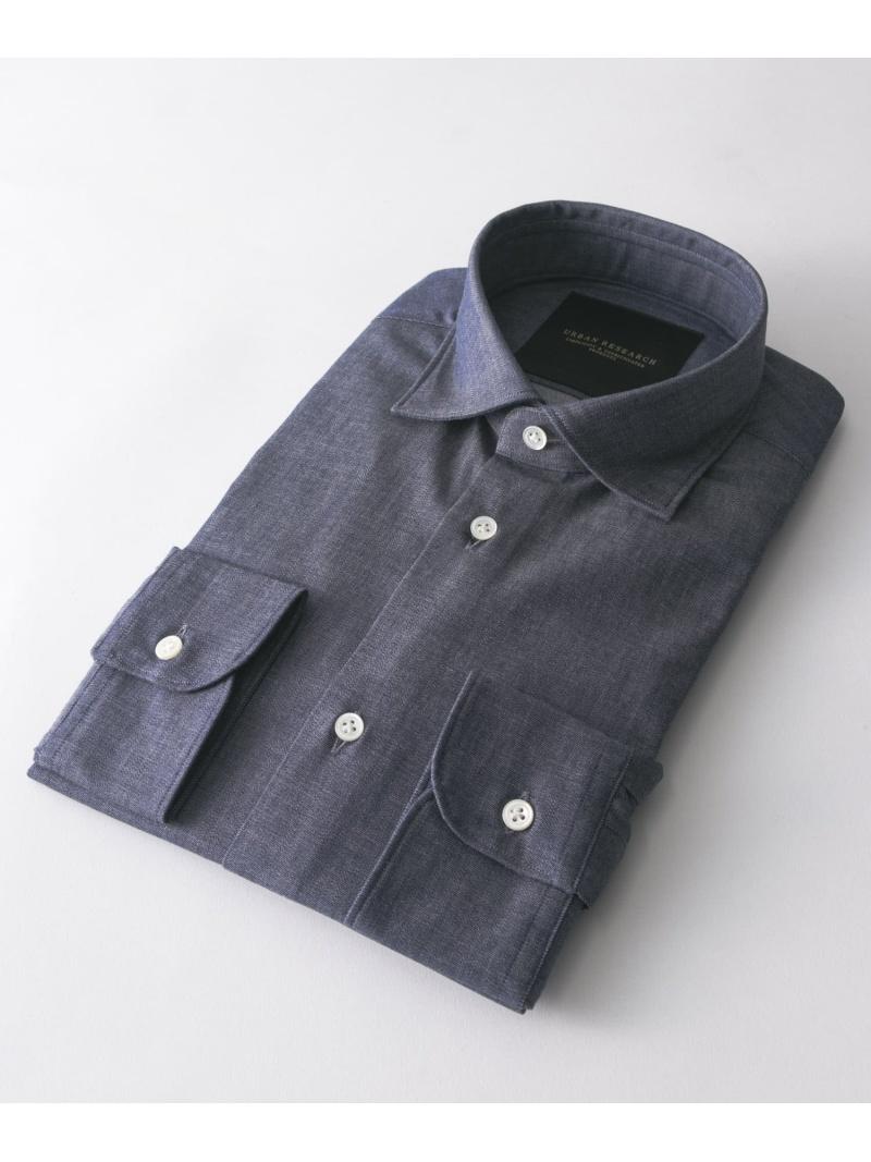 [Rakuten BRAND AVENUE]URBAN RESEARCH Tailor インディゴショートポイントシャツ URBAN RESEARCH アーバンリサーチ シャツ/ブラウス【送料無料】