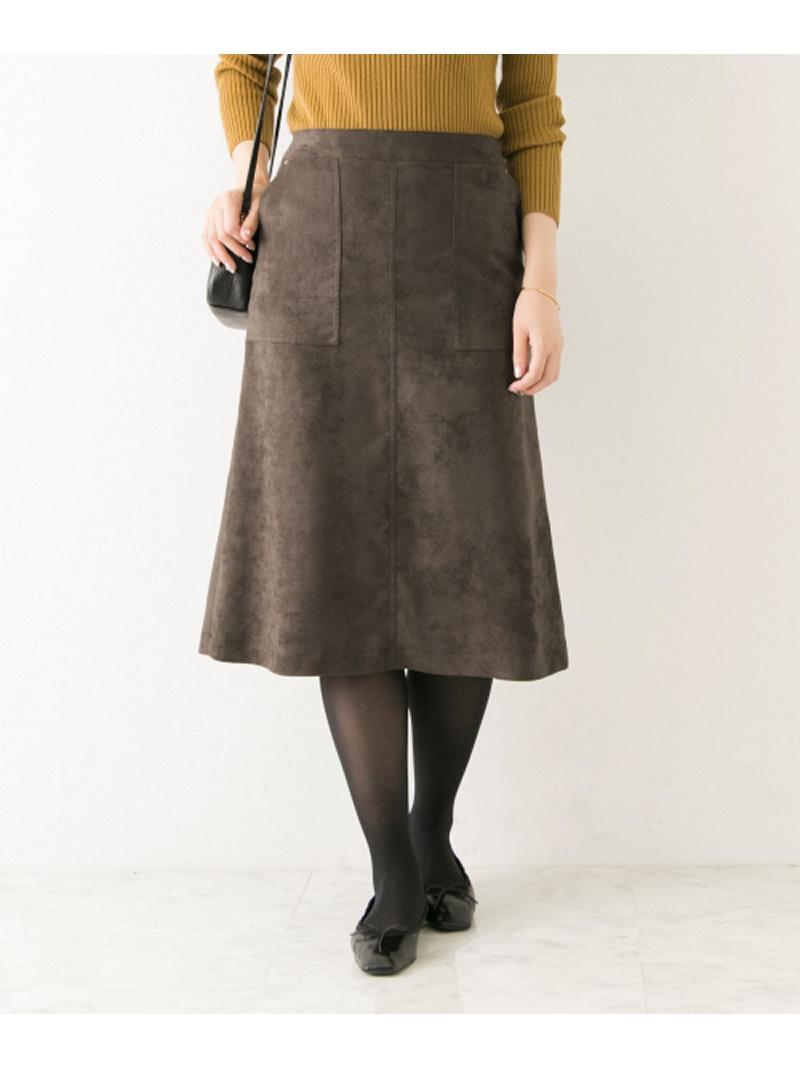 [Rakuten BRAND AVENUE]フェイクスウェードカラースカート URBAN RESEARCH アーバンリサーチ スカート【送料無料】