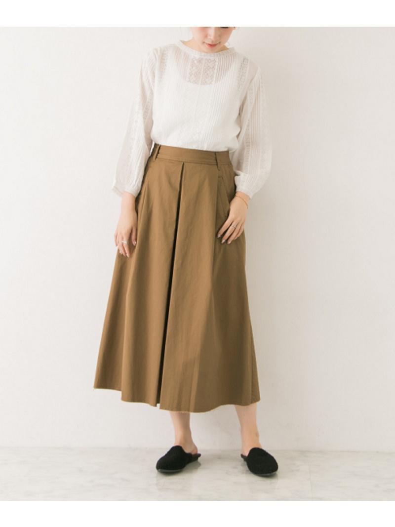 [Rakuten BRAND AVENUE]ポケット付きタックフレアースカート URBAN RESEARCH アーバンリサーチ スカート【送料無料】