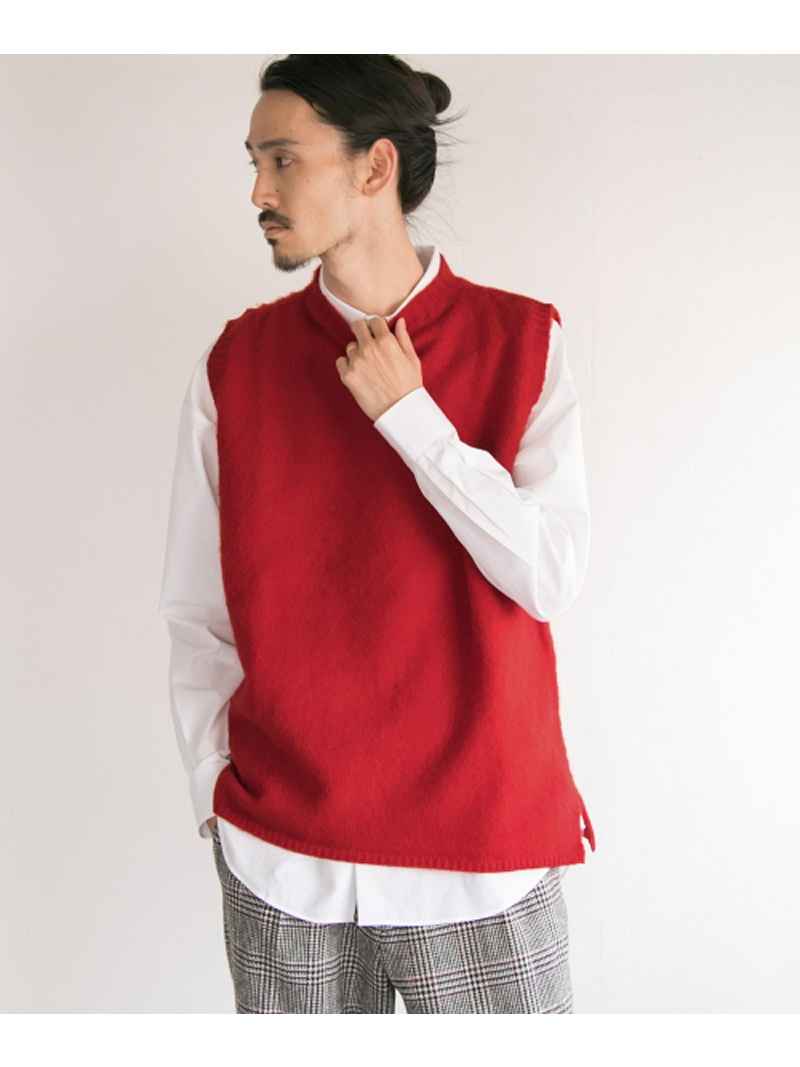 [Rakuten BRAND AVENUE]Harley of scotland×UR SHAGGY KNIT CREW VEST URBAN RESEARCH アーバンリサーチ カットソー【送料無料】