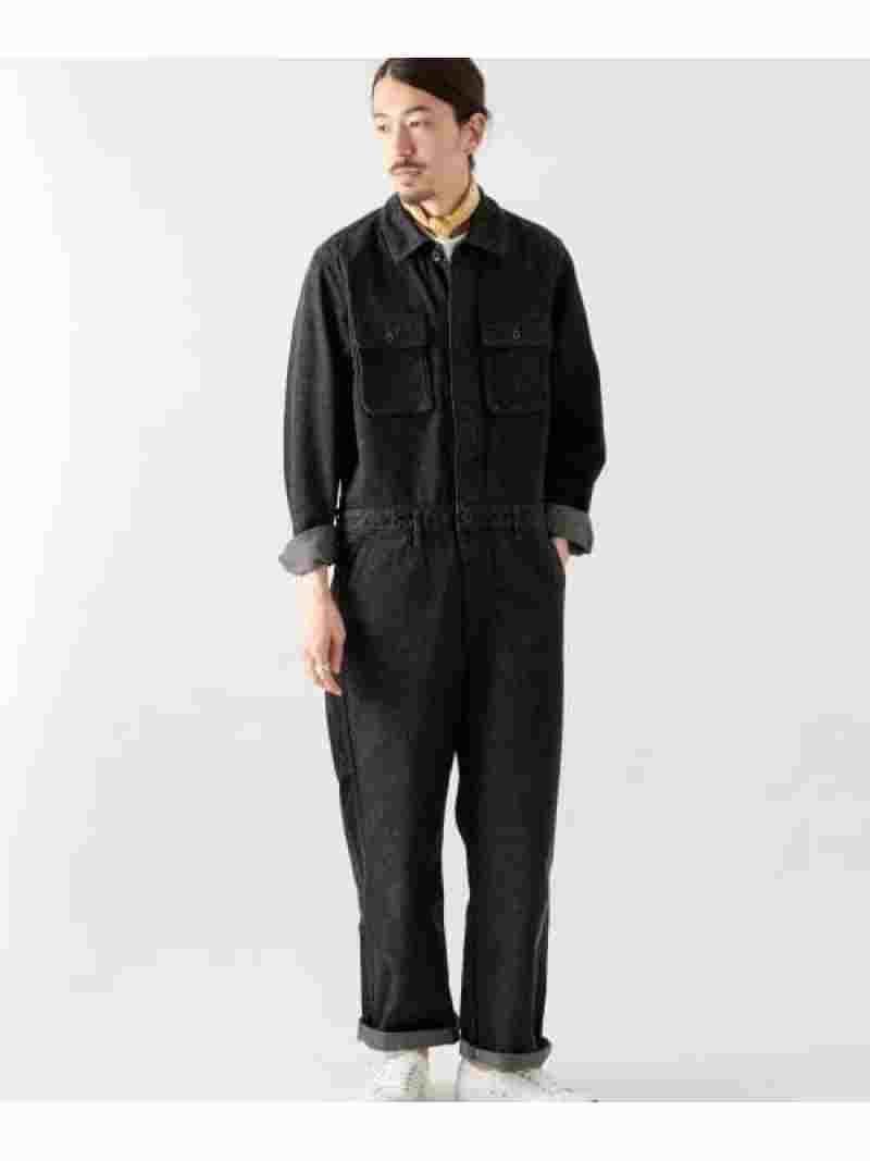[ Fashion]ブラックデニムボイラースーツ WORK NOT WORK ワーク・ノット・ワーク パンツ/ジーンズ サロペット/オールインワン ブラック【送料無料】