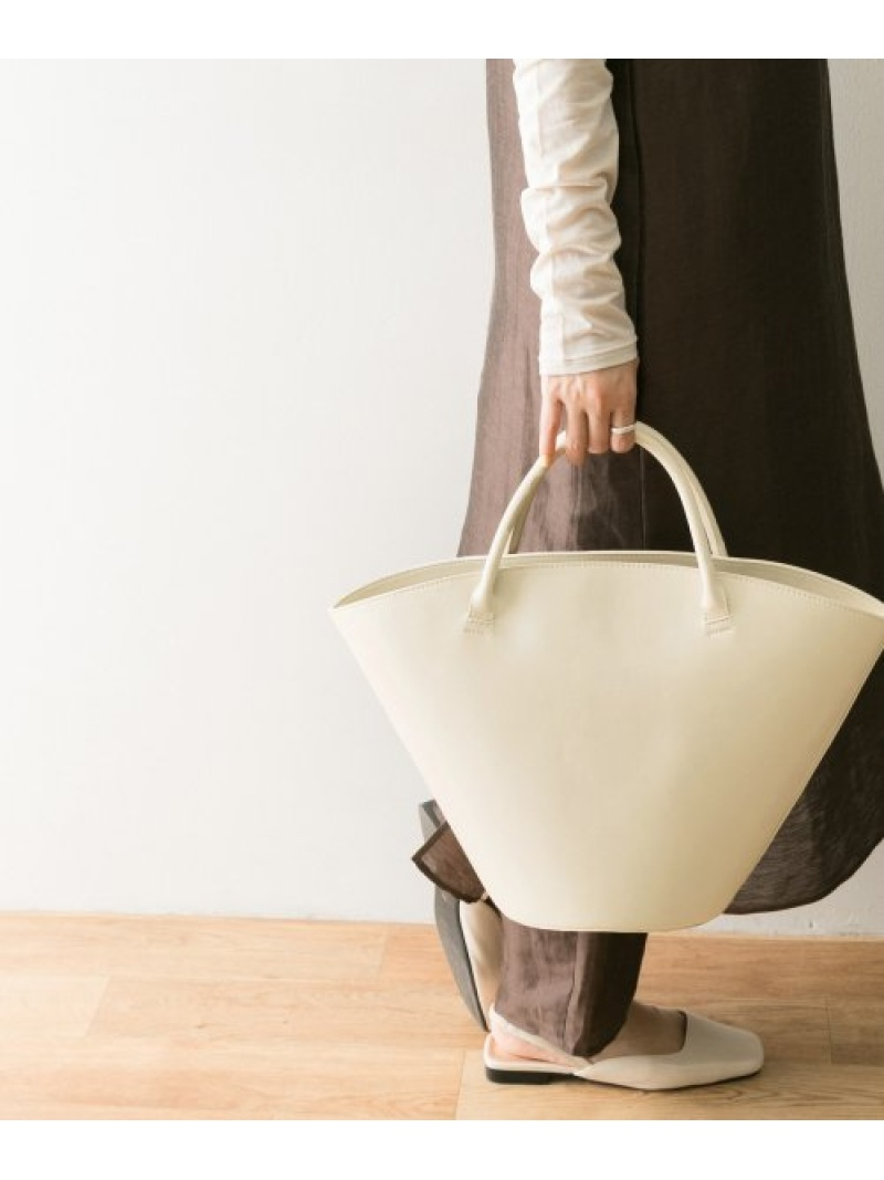 [Rakuten Fashion]ラウンドトップハンドルトート URBAN RESEARCH アーバンリサーチ バッグ トートバッグ ホワイト ブラウン【送料無料】