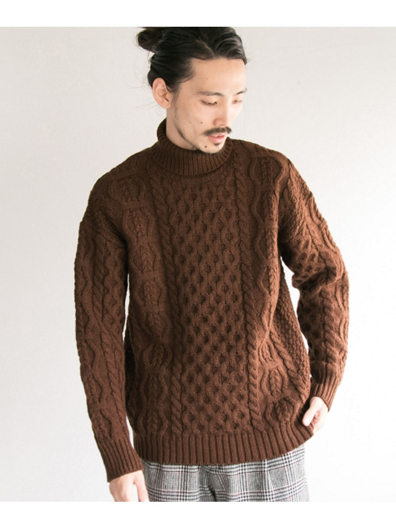 [Rakuten BRAND AVENUE]MERINO WOOL ARAN TURTLE URBAN RESEARCH アーバンリサーチ ニット【送料無料】