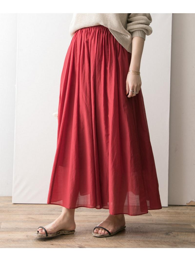 [Rakuten BRAND AVENUE]コットンシルクシフォンギャザースカート URBAN RESEARCH アーバンリサーチ スカート【送料無料】