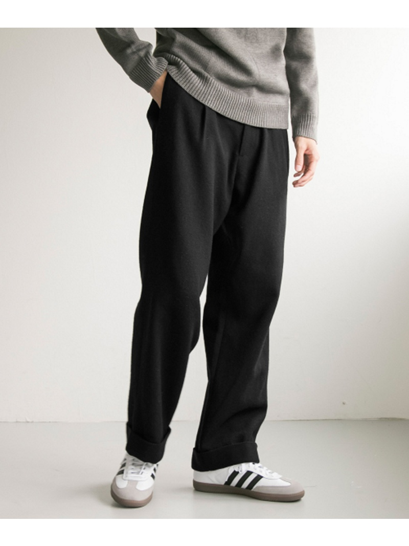 [Rakuten BRAND AVENUE]Wool tuck wide pants URBAN RESEARCH アーバンリサーチ パンツ/ジーンズ【送料無料】