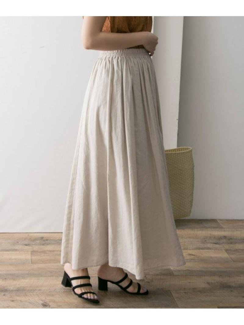 [Rakuten BRAND AVENUE]高機能リネンギャザースカート URBAN RESEARCH アーバンリサーチ スカート【送料無料】