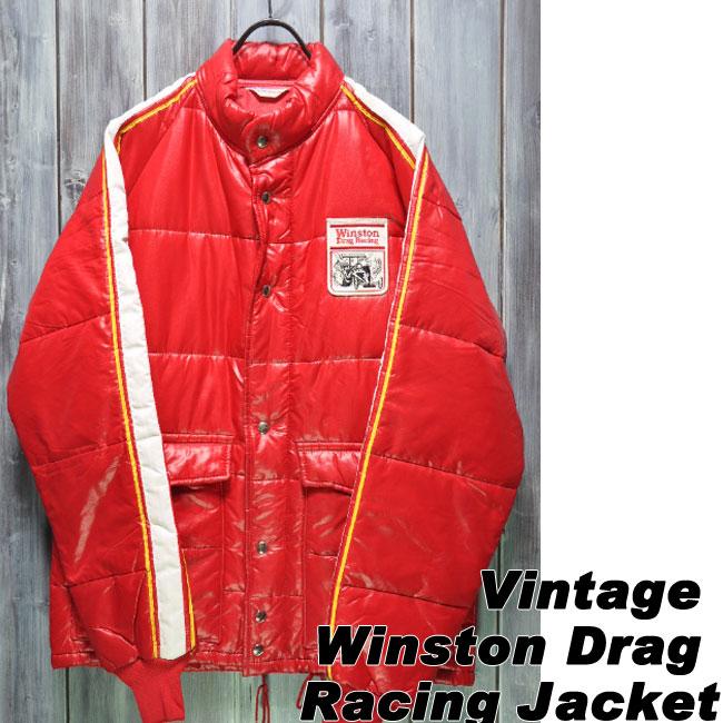 【ajito】Happyend ハッピーエンド Winston Drag Racing Jacket/ウィンストンドラッグ レーシング ビンテージ ジャケット モーターサイクルジャケット バイクウェア ヴィンテージ