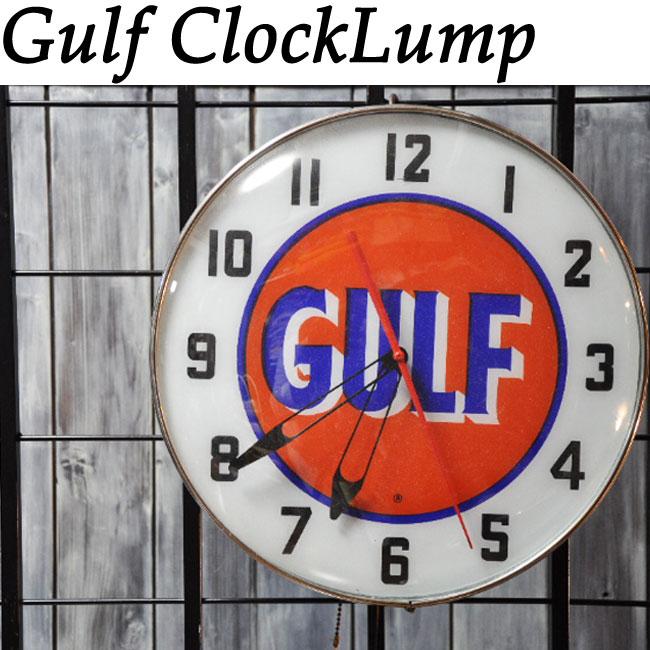 【ajito】 HAPPYEND Gulf Clock Lump ガルフ 電飾 時計 ランプ 照明 ライト ディスプレイ オールドアメリカン インテリア