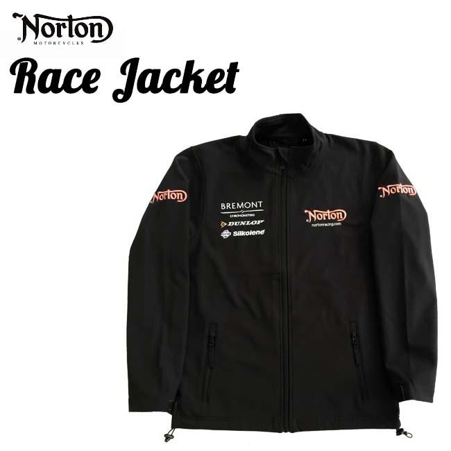 【ajito】Norton ノートン Norton Racing Soft Shell jacket レーシング ソフトジャケット アウター ブラック ジャケット プリント メンズ 正規取扱マーチャンダイズアイテム バイク ブラック