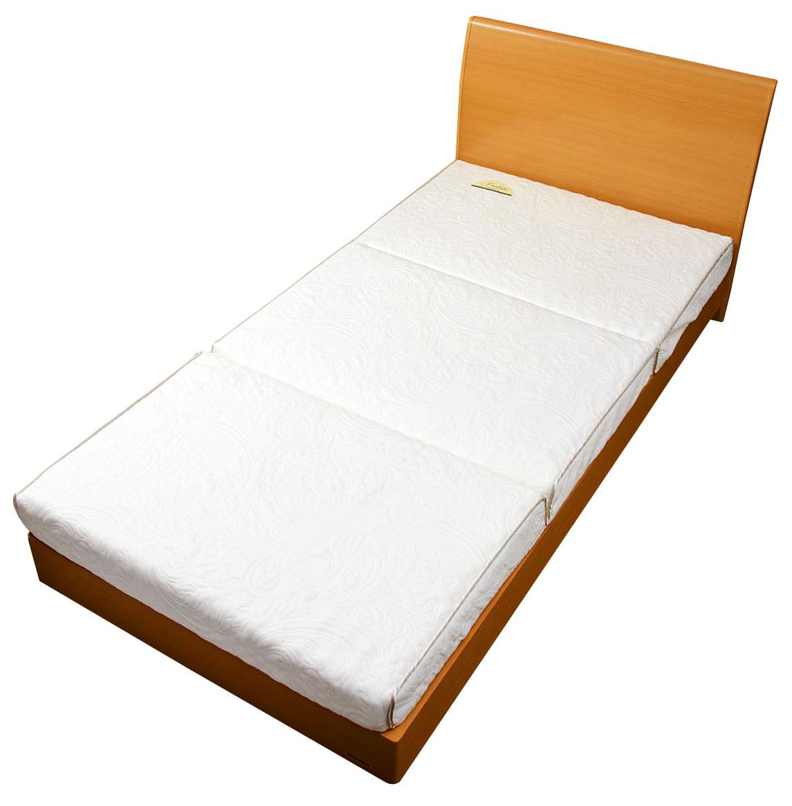 人間工学から生まれた、理想的な硬さと 構造を追求した敷ふとん【正しい寝姿勢を保つ キャップロール J-ホワイト (敷布団にもマットレスにも)[シングルロング]日本製 】