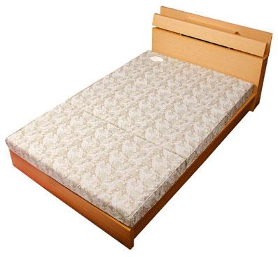 フローリングや畳でゆったり寝られるロングサイズ【正しい寝姿勢を保つ キャップロール リセル (敷布団にもマットレスにも)[セミダブル/SDL]】