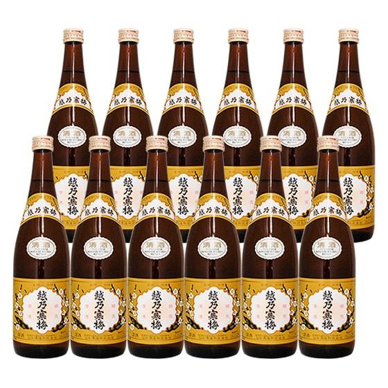 飲めば飲むほど蔵元の拘りの味が伝わってくる 越乃寒梅 白ラベル720ml 即納 完全送料無料 12本セット