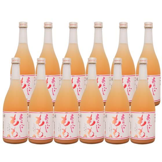 【送料無料 一部地域を除く】梅乃宿あらごしもも酒720 12本