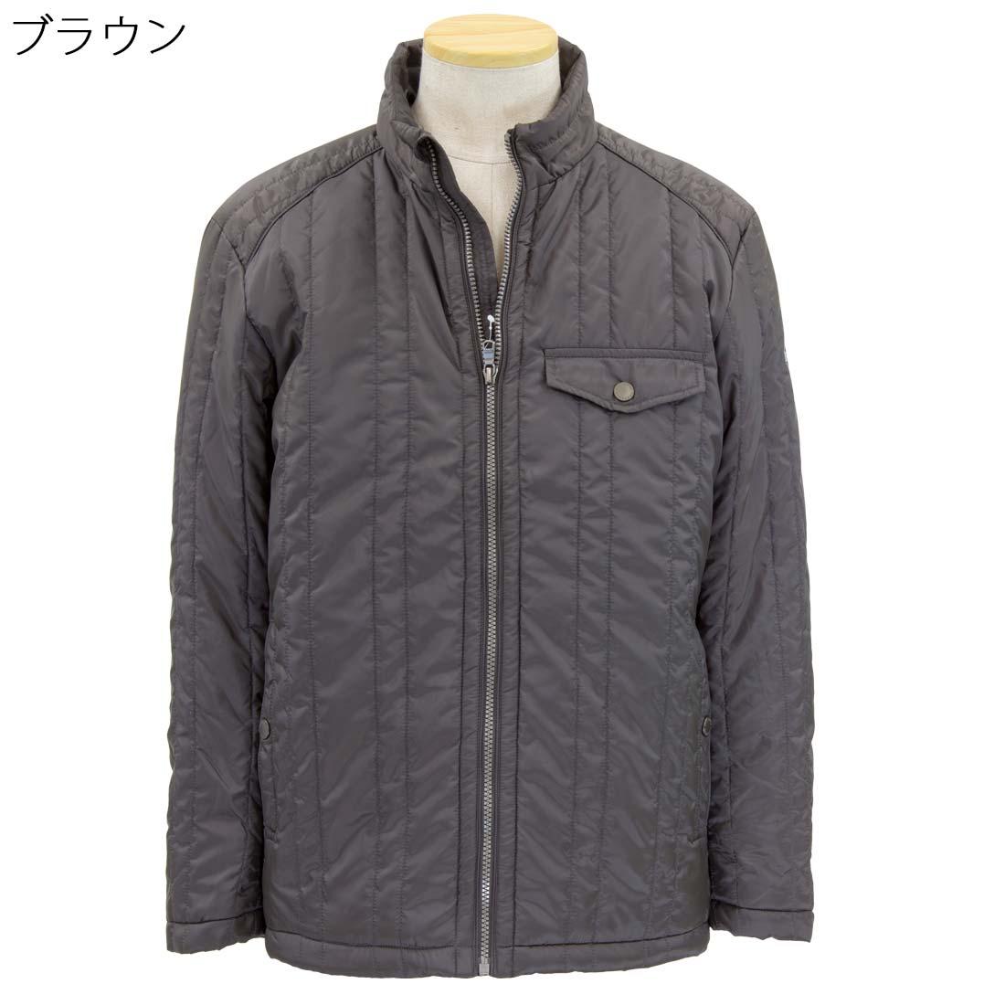 紳士 クロコダイル 中綿 サーモア ジャケット●シニアファッション 70代 80代 90代 秋冬