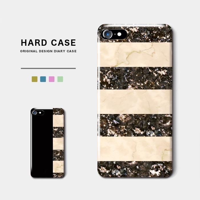 大理石 マーブルボーダー スマホケース ハードケース リゾート風な大理石デザイン iPhone8 Android アンドロイド インスタ スマホ ストライプ 倉 オーダーメイド バイカラー iPhoneX 今季も再入荷 名入れ ボーダー