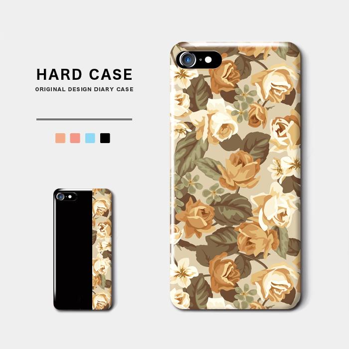 アンティークフラワー スマホケース 正規激安 ハードケース シックで落ち着いた小花柄デザイン iPhone8 新作製品、世界最高品質人気! Android アンドロイド スマホ バイカラー レトロ オシャレ iPhoneX 名入れ オーダーメイド フラワー クラシック 花柄