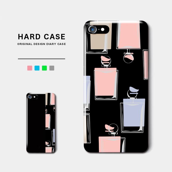 パフューム スマホケース ハードケース シックな香水がエレガントなデザイン iPhone8 Android アンドロイド スマホ バイカラー オーダーメイド 香水 レトロ 名入れ ポップ iPhoneX パフィーム コスメ オシャレ 限定モデル 未使用 クラシック