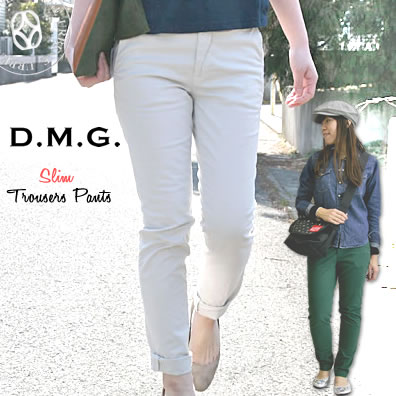 a84d88b324684 Domingo DMG(D.M.G ) パウダーチノストレッチタイトフィットスリムトラウザー pants Cara pants and ...