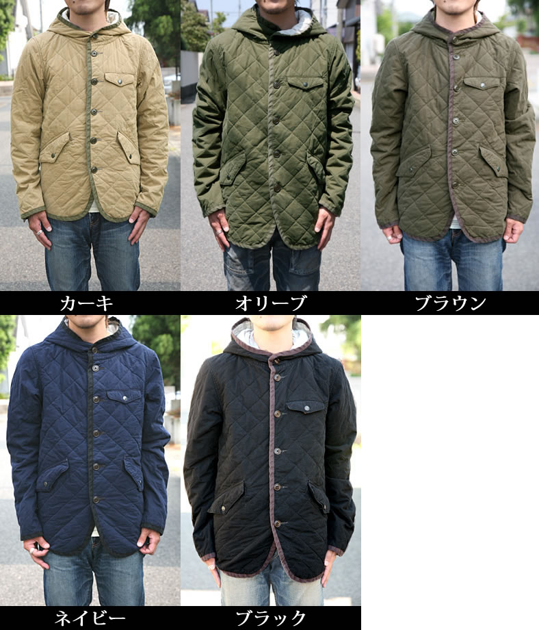 JOHNBULL ( jumble ) (coats / outerwear 16119) C/N ox quilted hooded military jacket men's / フライトジャケット / olive / black / Black / khaki/hood / Rakuten