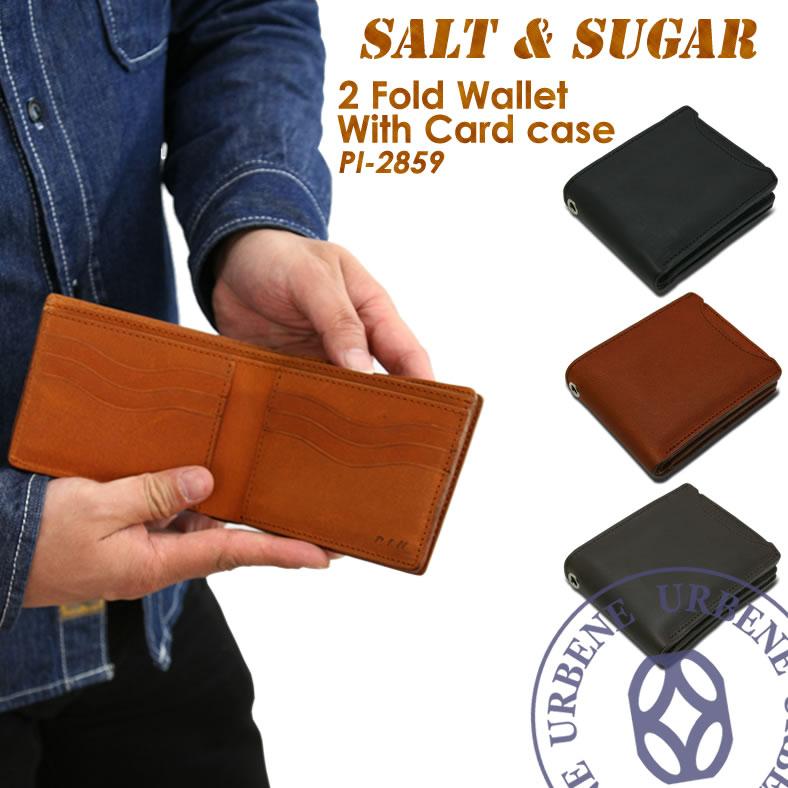 ソルト&シュガー salt&sugar PIN ピン パスケース付2つ折りウォレット 二つ折り財布 (pi-2859) 小銭入れあり 送料無料 革財布 メンズ レディース 本革 小物 ブランド雑貨 財布 ケース メンズ財布